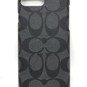 free shipping 9adc4 2bac3 Coach iPhone 8 Plus Case Logo F33750 NWT